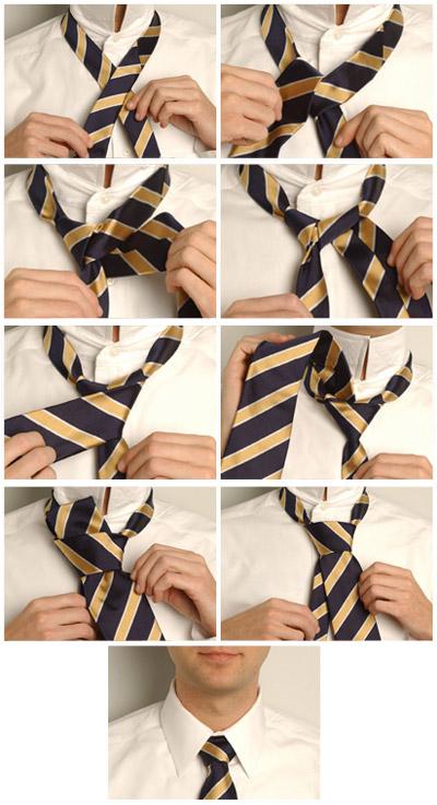 Схема повязки галстука